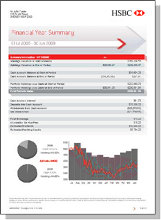 Financial year summary report